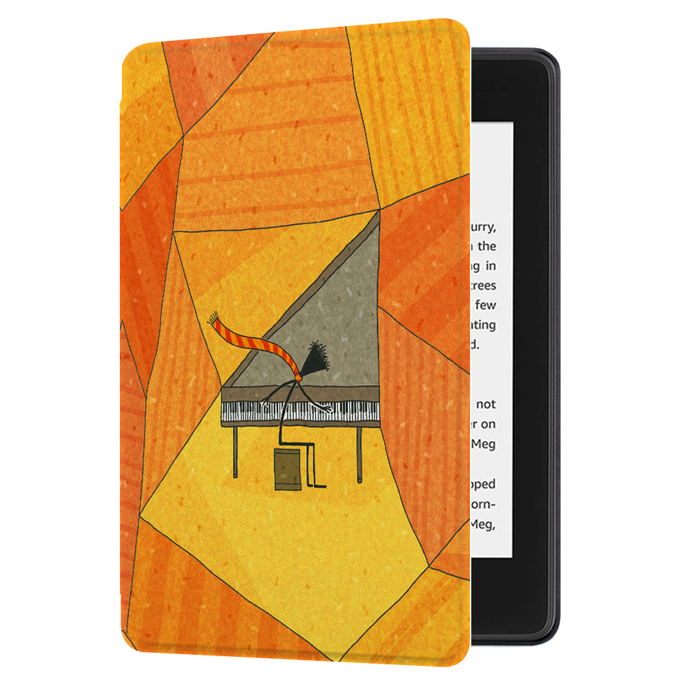 Huasiru Painting Case for All Kindle Paperwhite (10th Generation-2018 Only  - Will Not fit Prior Generation Kindle Devices), Pianist