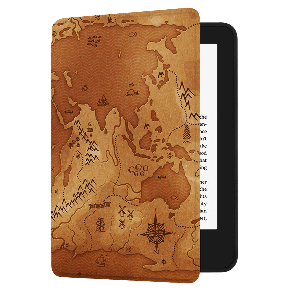Huasiru Painting Case for All-new Kindle (10th Generation-2019 Only) with  Auto Sleep/Wake,Map